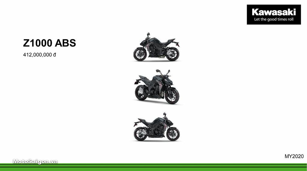 Giá xe Kawasaki Z1000 ABS 2020 chính hãng mới nhất hôm nay