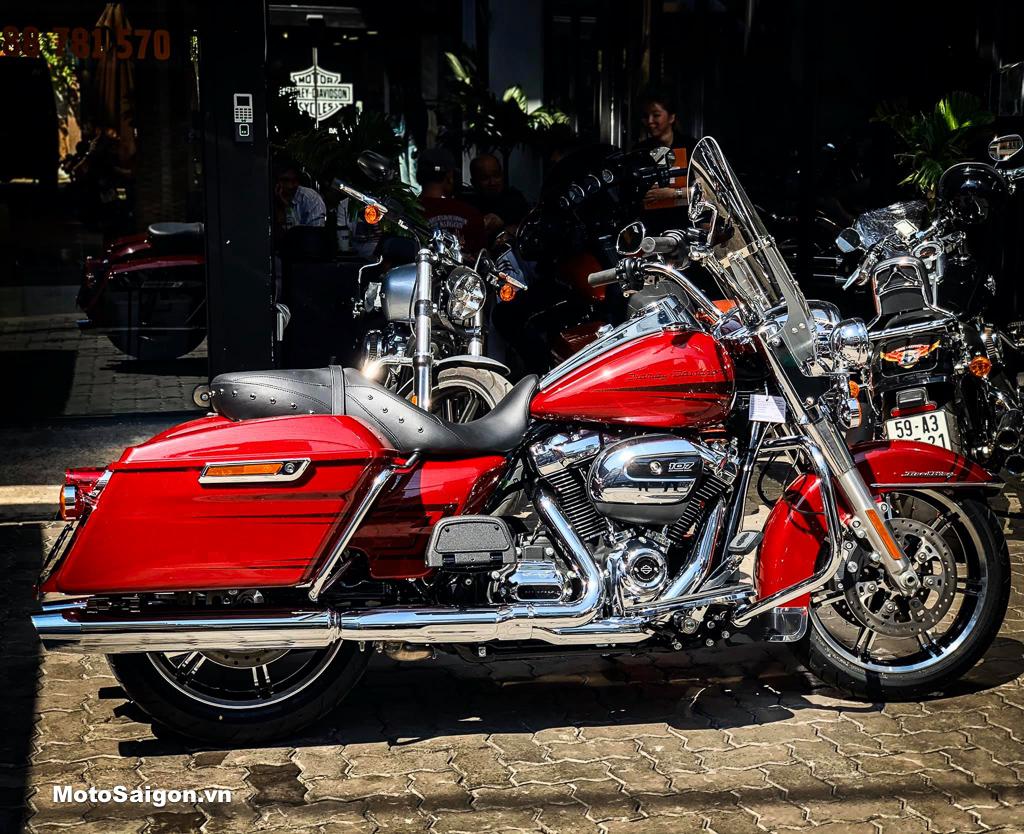Harley-Davidson Road King 2020 màu đỏ Stiletto cực hiếm bất ngờ về Việt Nam