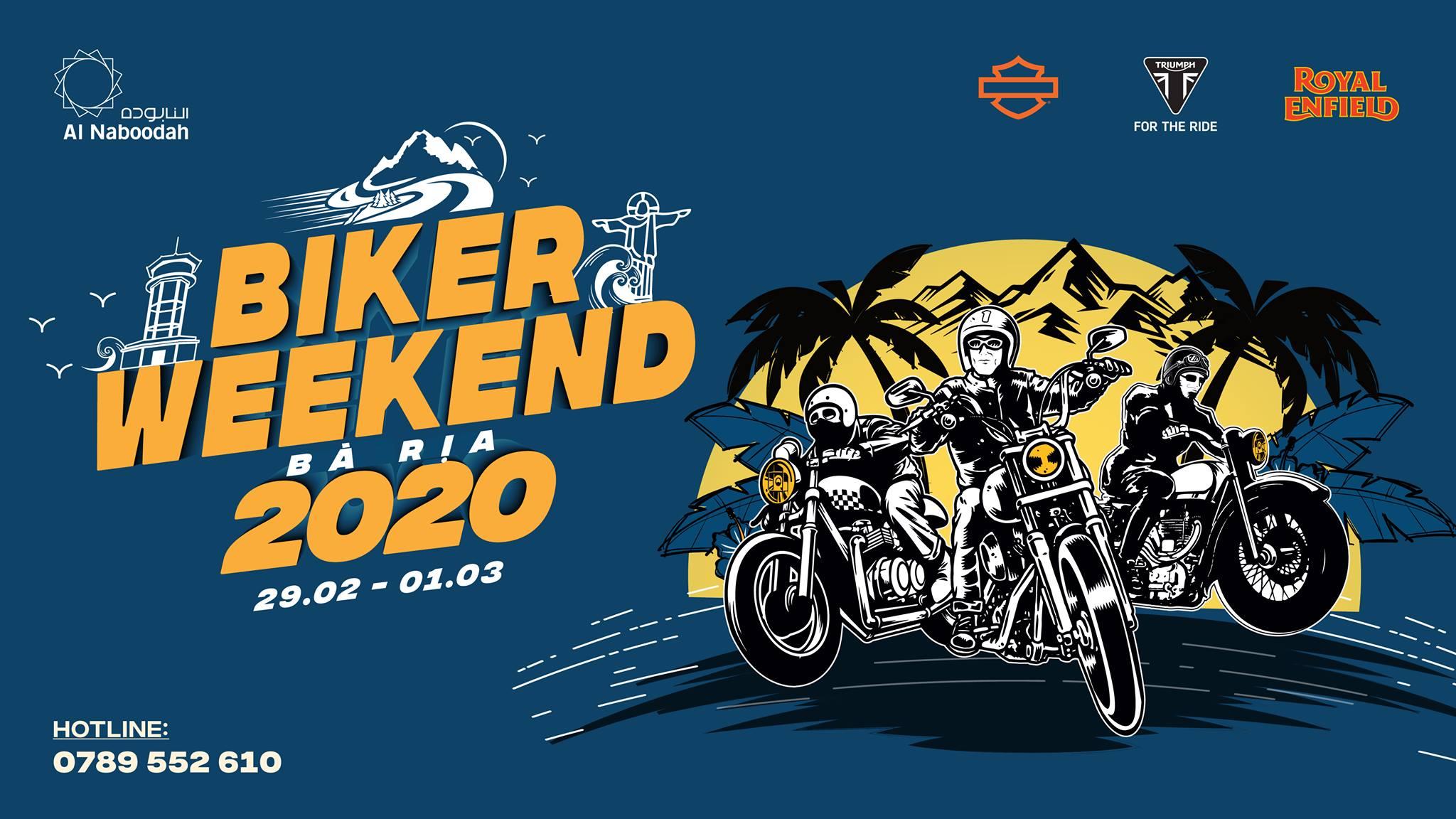 BÀ RỊA BIKER WEEKEND 2020 - Ngày hội mô tô đầu năm với nhiều hoạt động thú vị