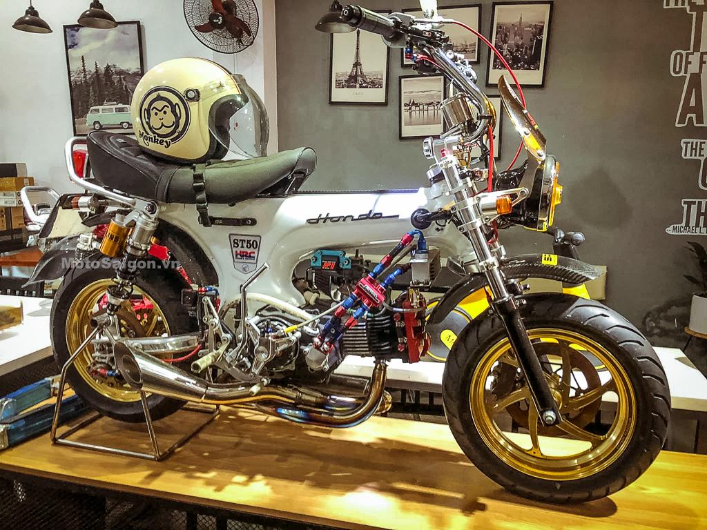 Honda Dax độ máy Kitaco nhiều đồ chơi giá bán gần bằng Z1000 2020