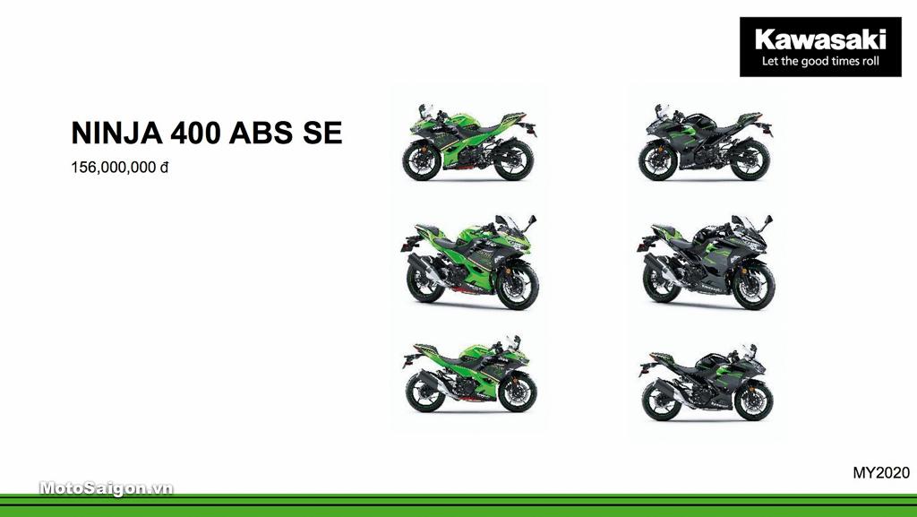 Giá xe Kawasaki Ninja 400 ABS SE mới nhất hôm nay 2020