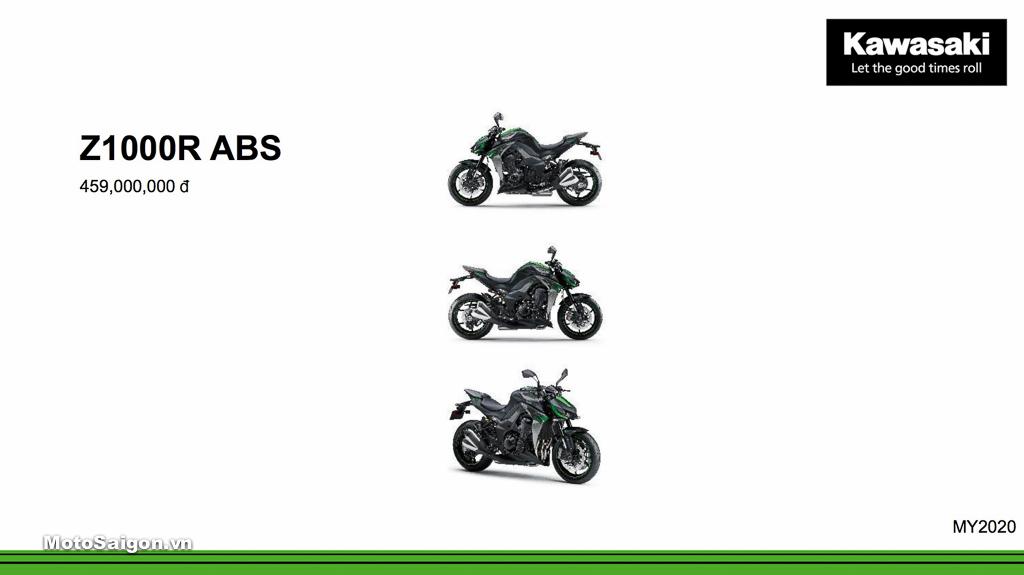 Giá xe Kawasaki Z1000R ABS mới nhất hôm nay 2020