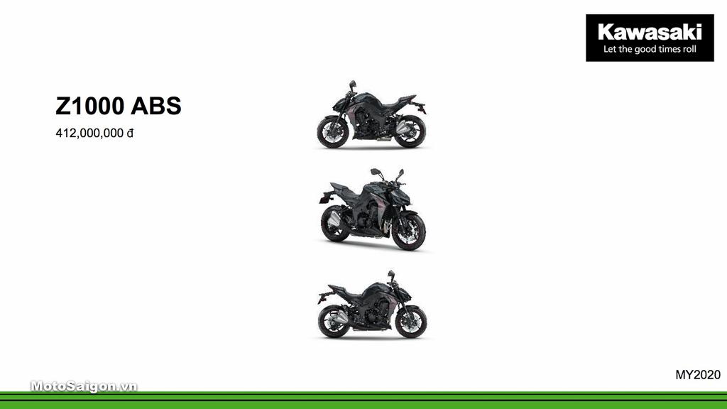 Giá xe Kawasaki Z1000 ABS mới nhất hôm nay 2020