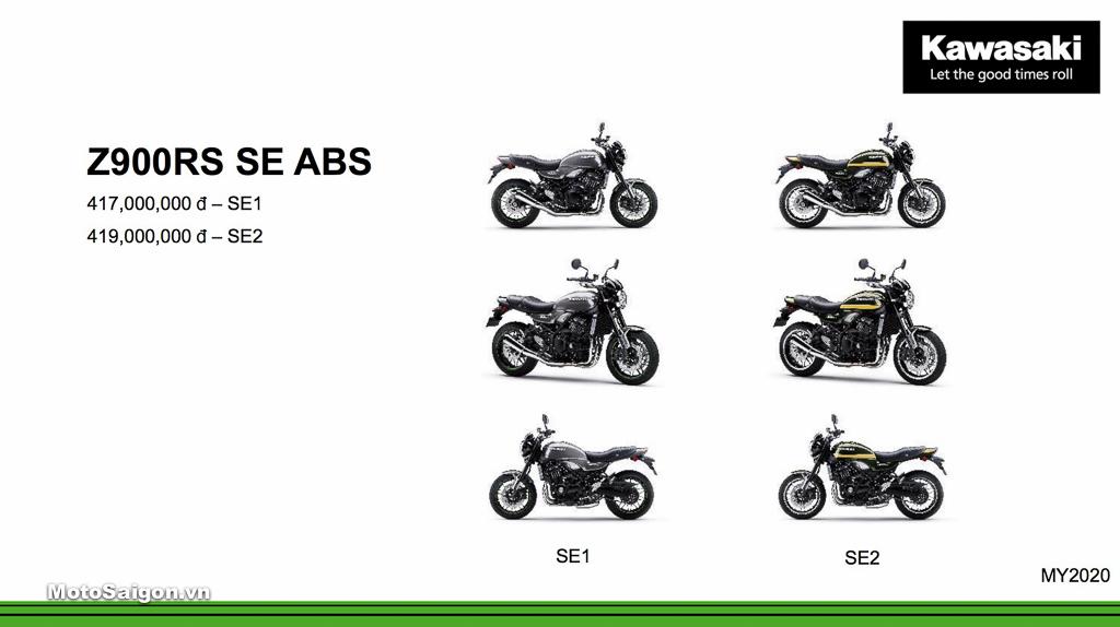 Giá xe Kawasaki Z900RS SE ABS mới nhất hôm nay 2020