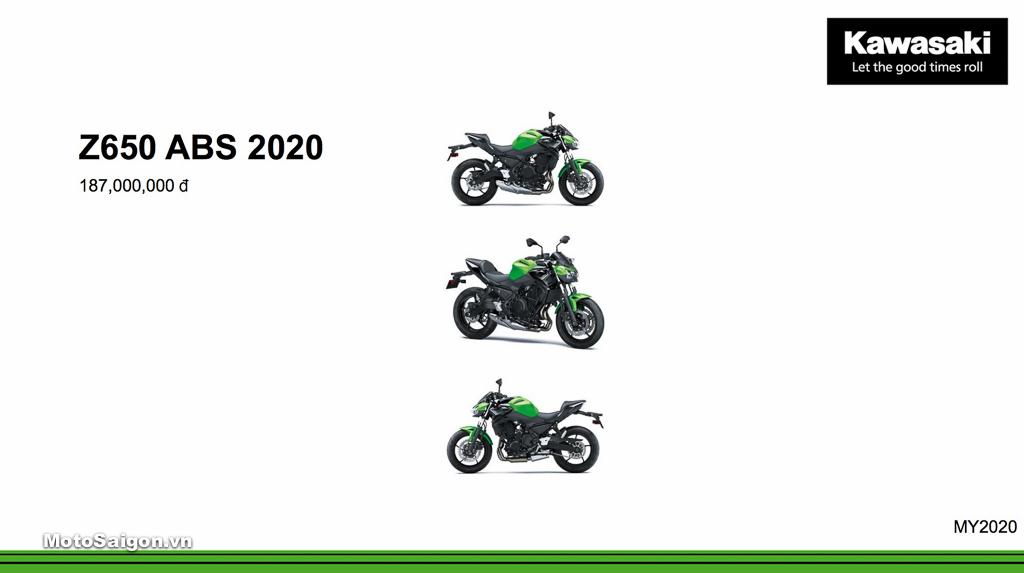 Giá xe Kawasaki Z650 ABS mới nhất hôm nay 2020