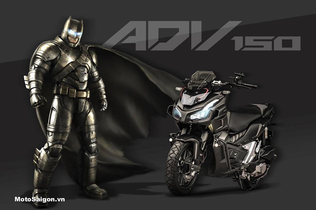 Honda ADV 150 độ dàn áo Batman kèm loạt đồ chơi cực ngầu