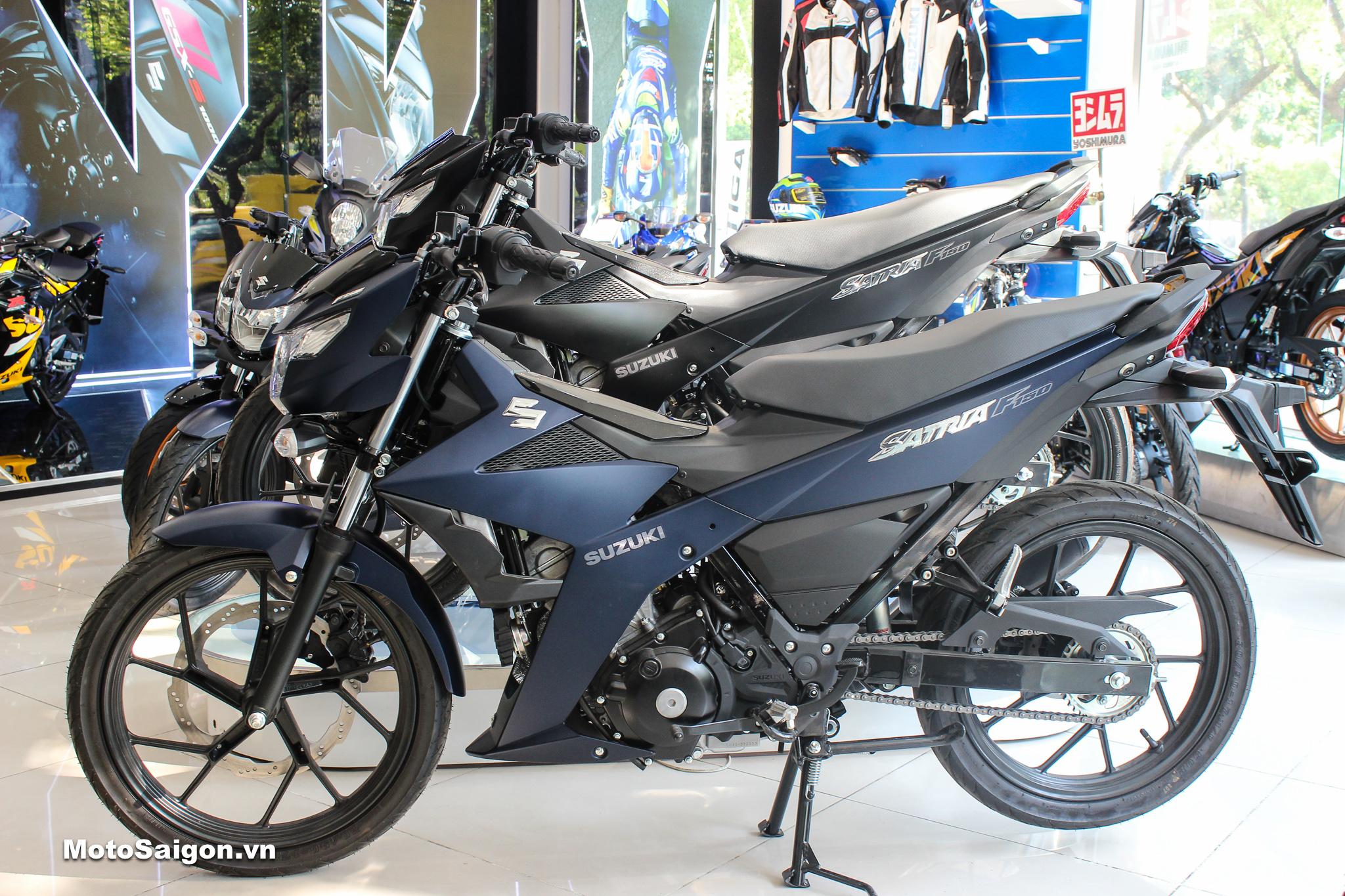 Suzuki Satria F150 2020 phiên bản màu Xanh mờ đã có giá bán chính hãng