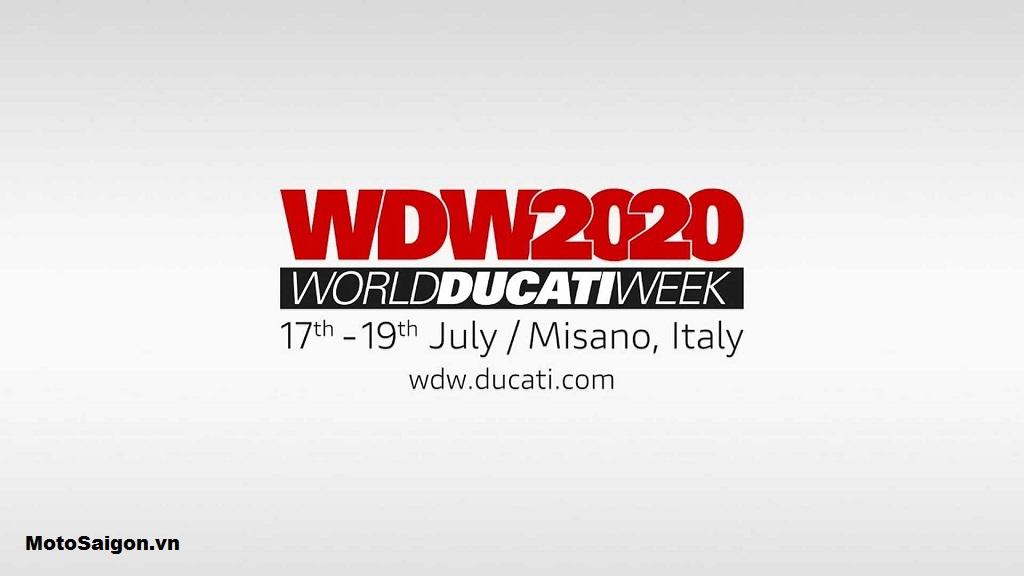 Thông báo trước đó của Ducati về thời gian tổ chức sự kiện World Ducati Week 2020