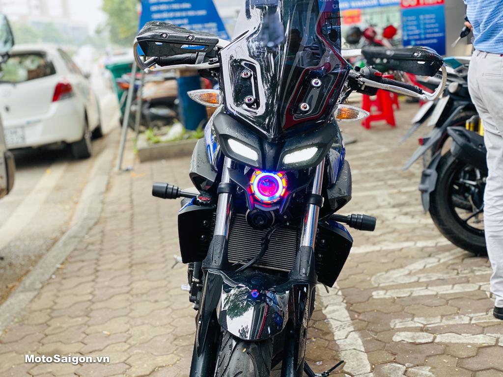 Yamaha MT-03 độ đầu đèn MT-15 kết hợp gương cầu cực ngầu