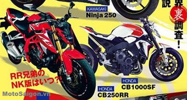Hình ảnh naked bike Honda CB250RR trên chuyên trang nước ngoài