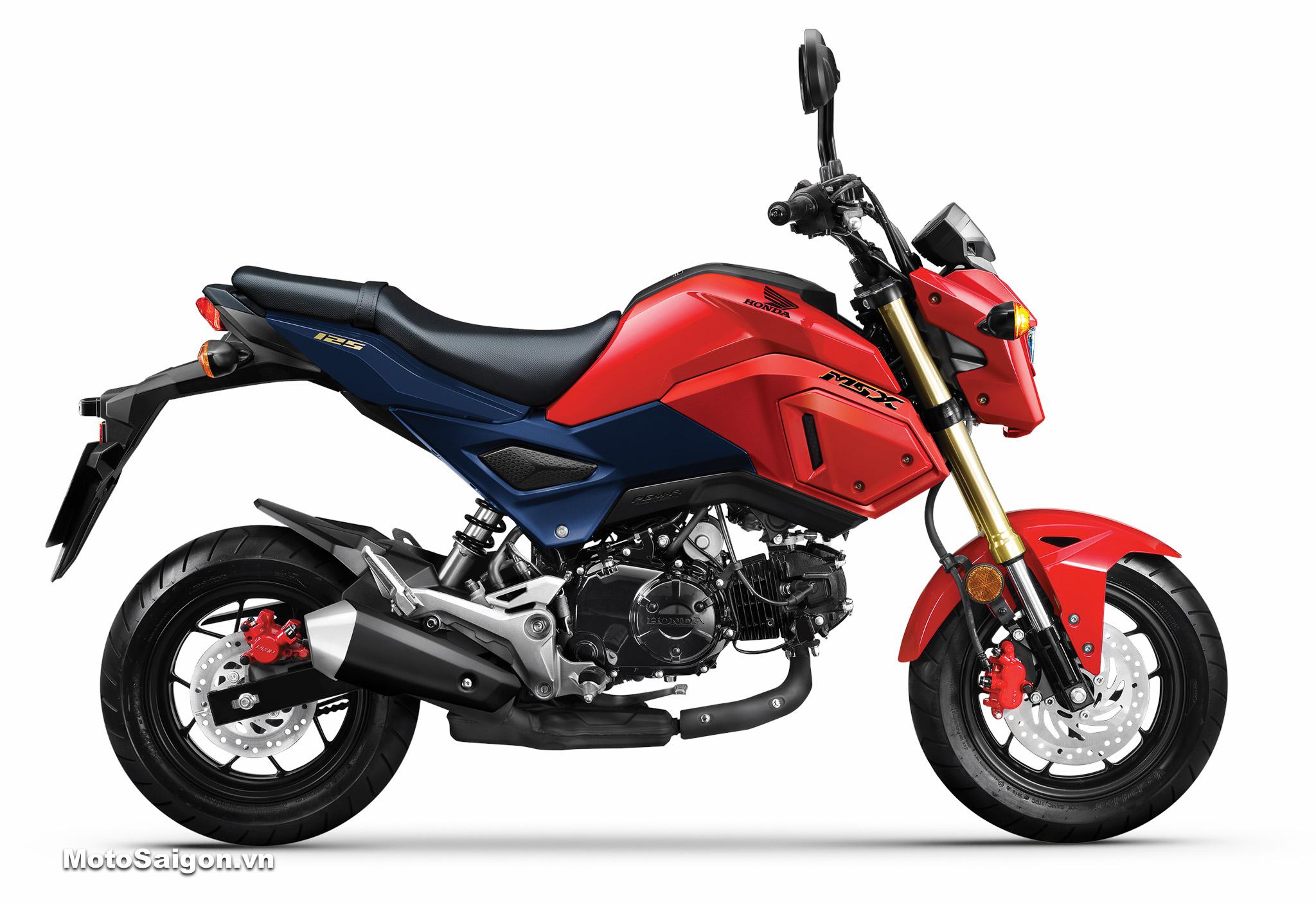 Honda MSX 125 2020 màu xanh đen đỏ