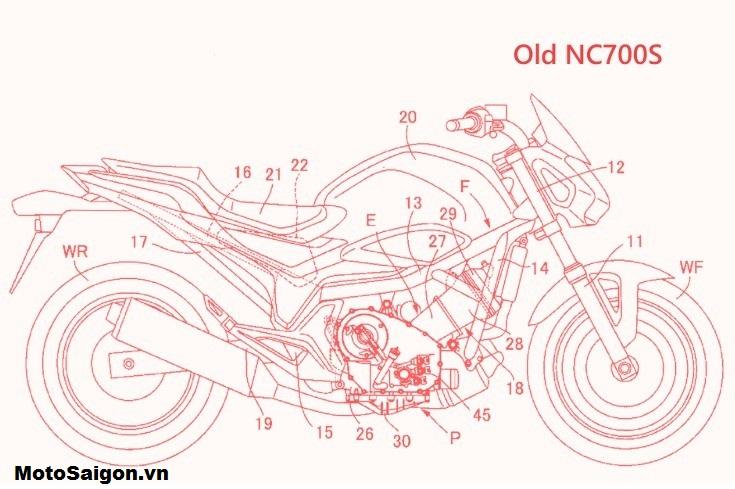Bản vẽ trước đó của Honda NC750SBản vẽ trước đó của Honda NC750S