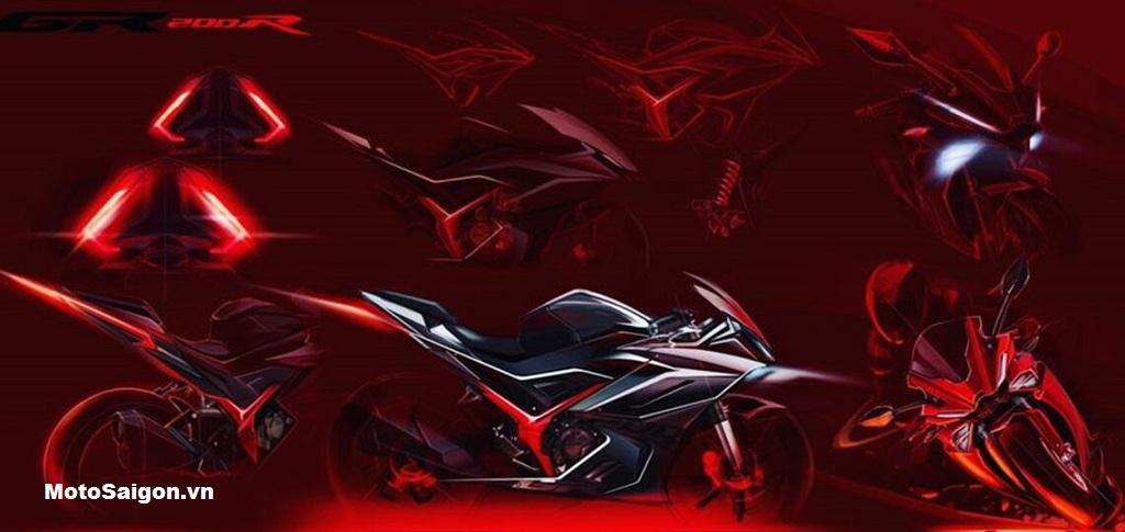 Bản vẽ thiết kế trước đó của GPX GR200R