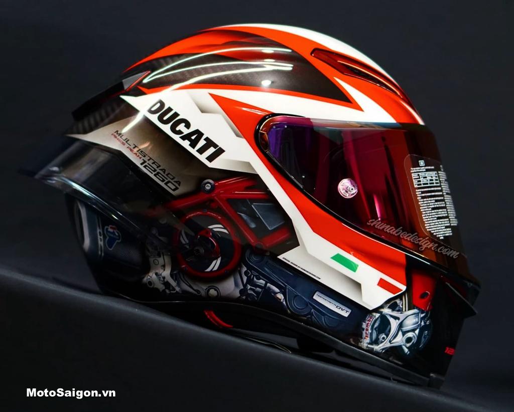 AGV Pista GP RR độ tem Ducati Multistrada 1260 giá khủng