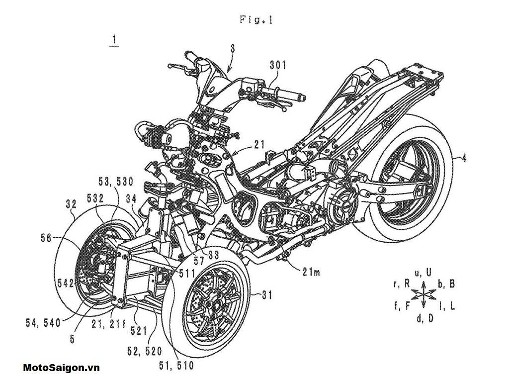 Bản vẽ thiết kế trước đó của Yamaha Tromatic 560