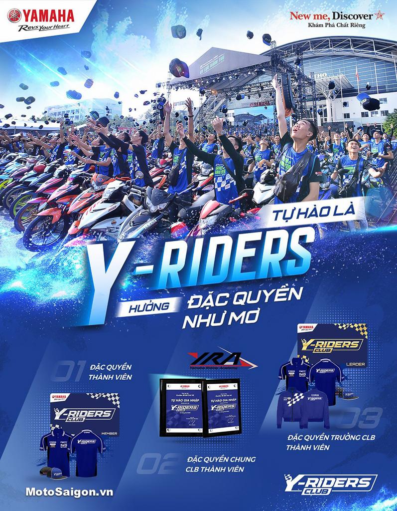 Những đặc quyền hấp dẫn dành cho thành viên cộng đồng Y-Riders Club