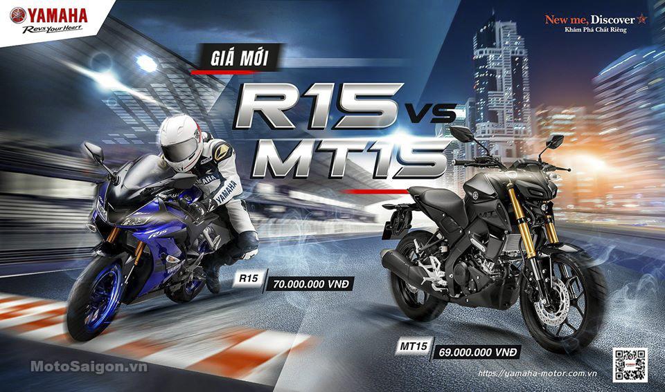 Yamaha Việt Nam cập nhật giá xe R15 v3 và MT-15 2020 siêu sốc