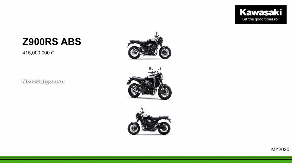 Giá xe Kawasaki Z900RS ABS 2020 mới nhất