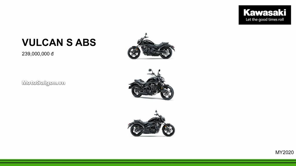 Giá xe Kawasaki Vulcan S ABS 2020 mới nhất