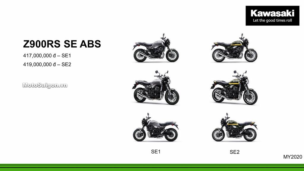 Giá xe Kawasaki Z900RS SE ABS 2020 mới nhất