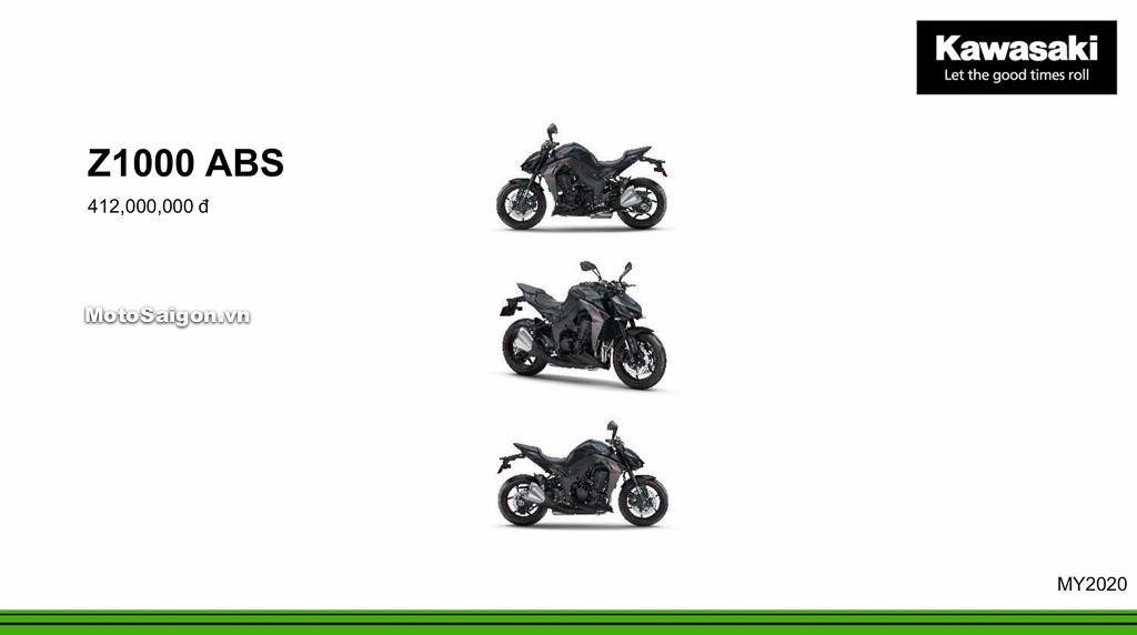 Giá xe Kawasaki Z1000 ABS 2020 mới nhất