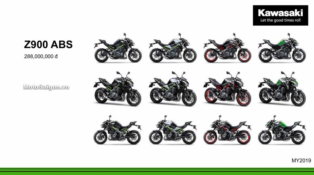 Giá xe Kawasaki Z900 ABS 2020 mới nhất