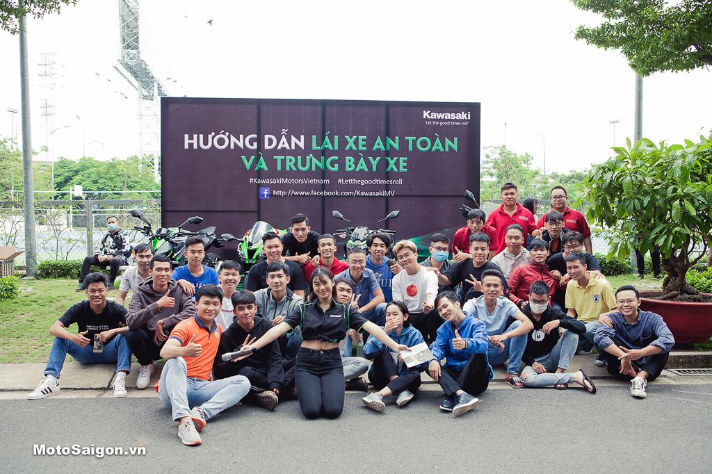Kawasaki Motors Việt Nam hướng dẫn lái xe an toàn cho hàng trăm sinh viên Hutech