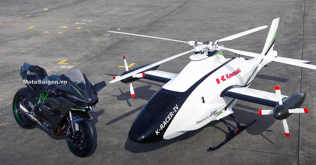Clip thử nghiệm thành công trực thăng lắp động cơ Ninja H2R siêu nạp