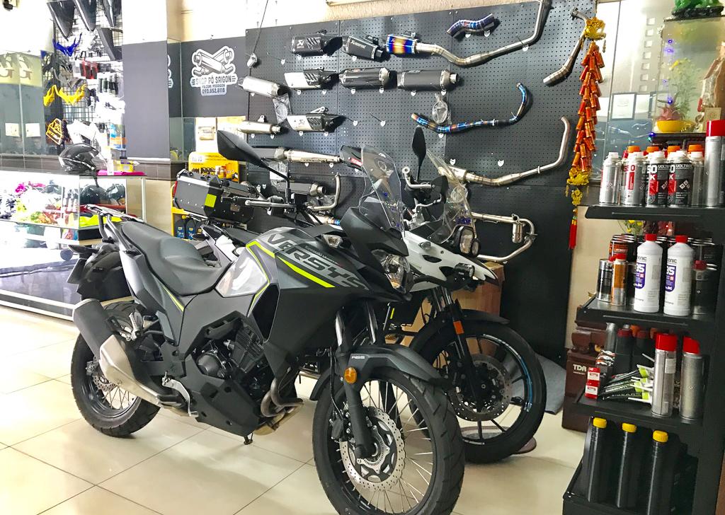 Kawasaki Versys-X 300 giá bán 145 triệu đồng độ pô slip-on