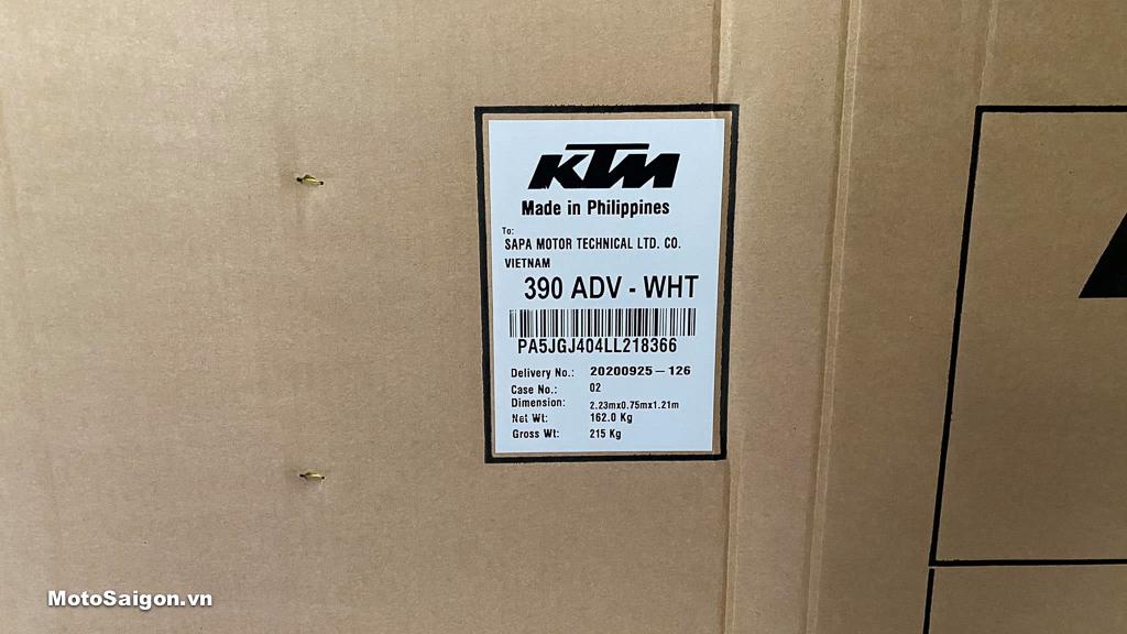 KTM 390 Adventure 2020 chính hãng đã về Việt Nam