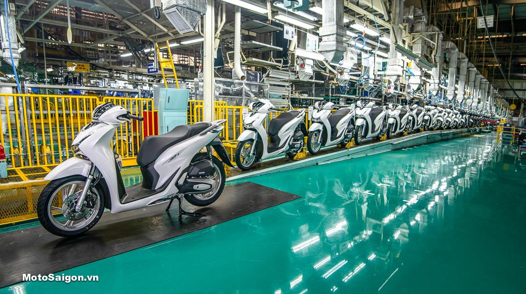 Dây chuyền sản xuất nhà máy Honda Việt Nam