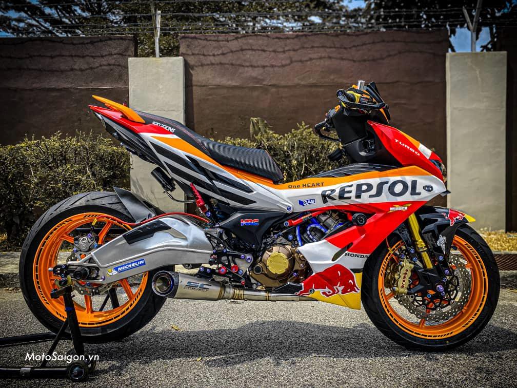 Winner X độ trái 63mm kết hợp bộ Turbo kèm dàn chân moto pkl