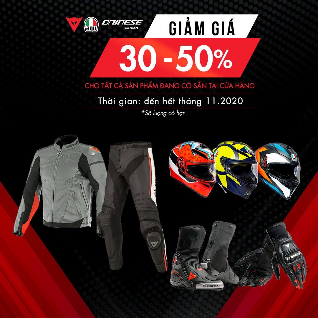 Ưu đãi giá Dainese & AGV Việt Nam