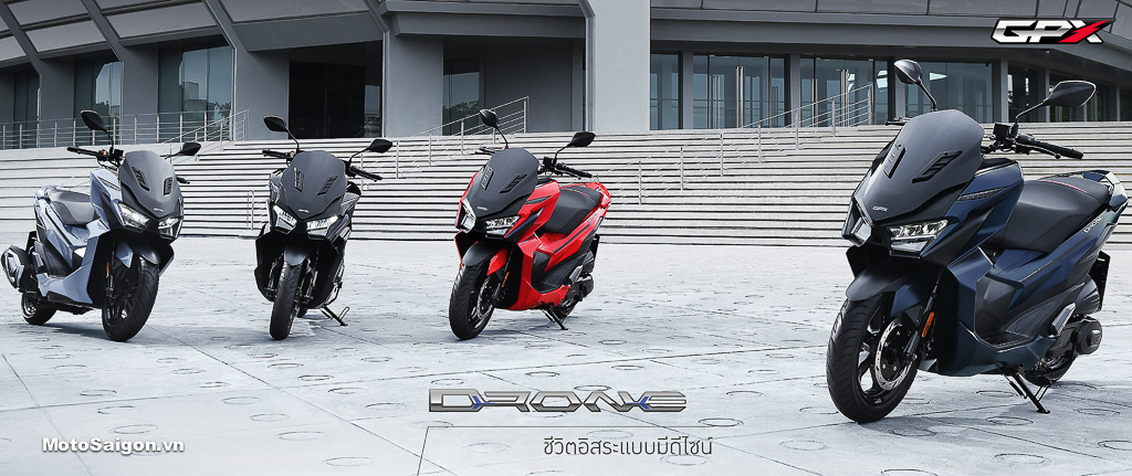 GPX Drone xe tay ga đầu tiên của Thái Lan đã có giá bán