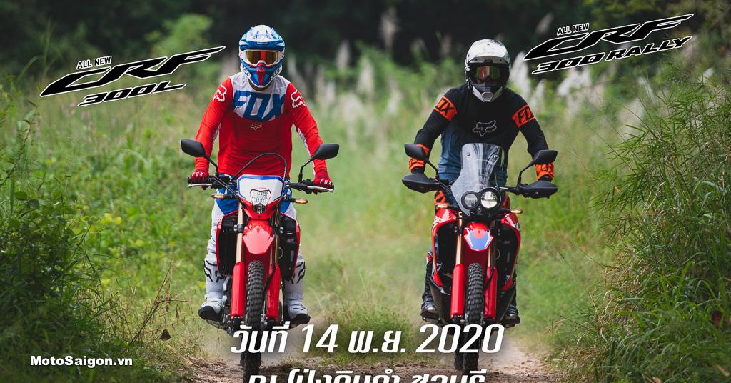 Honda CRF300L và CRF300 Rally 2021 kèm giá bán