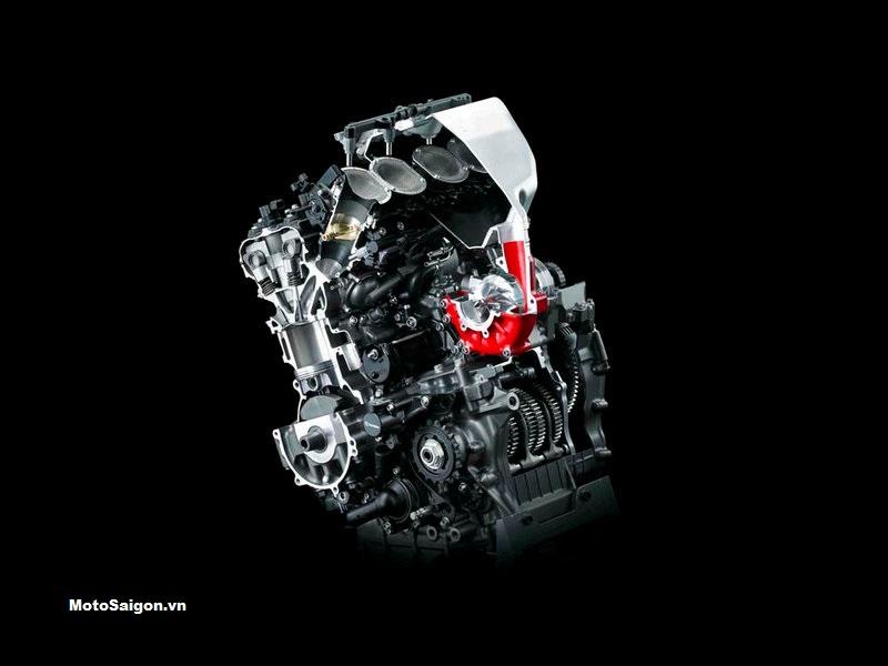 Động cơ I4 siêu nạp trên Ninja H2
