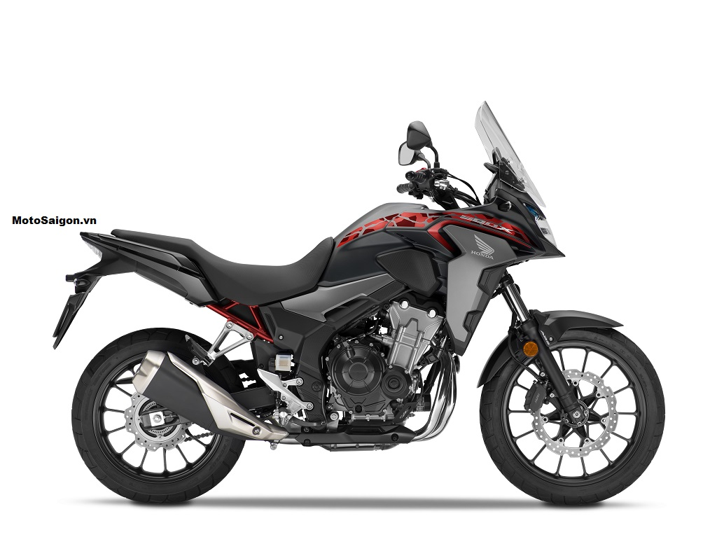 Honda CB500X 2021 màu đỏ xám camo