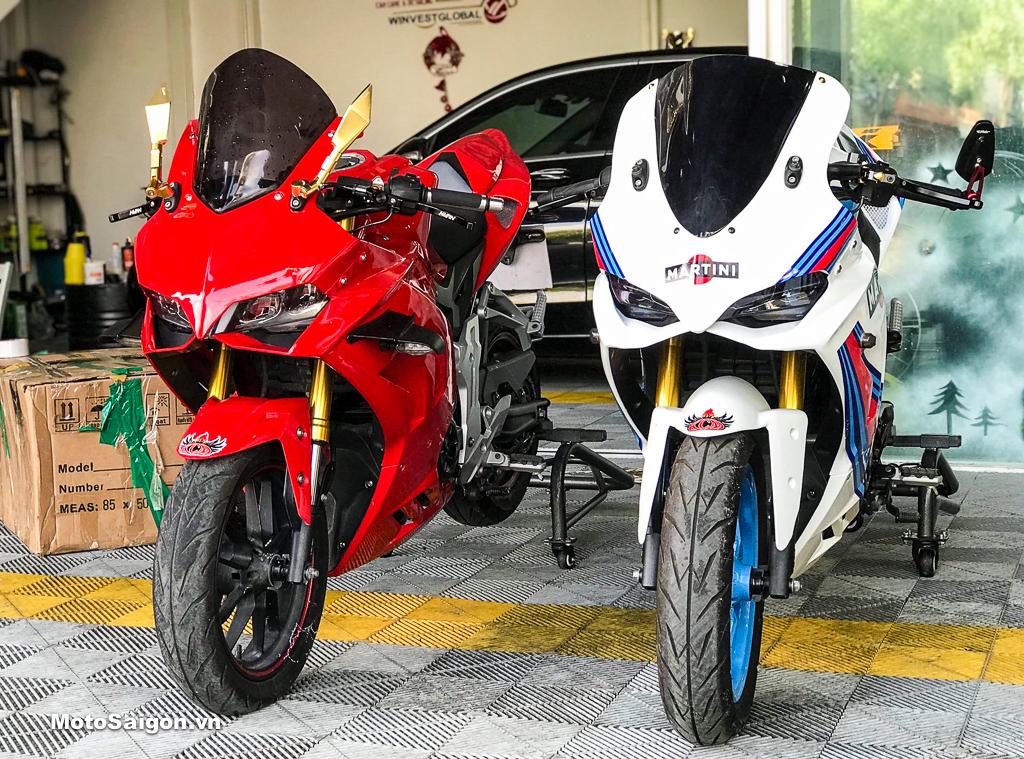GPX Demon 150GR độ bodykit Ducati Panigale V4R và 1299 Martini cực chuẩn
