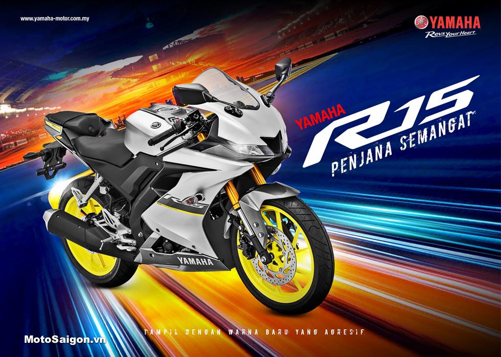 R15 v3 2021 phiên bản mới ra mắt tại Malaysia Indonesia