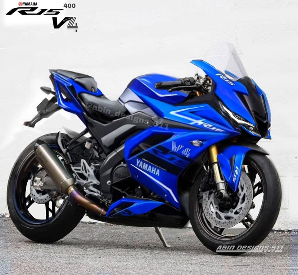 Hình ảnh phác họa photoshop của Yamaha R15 v4