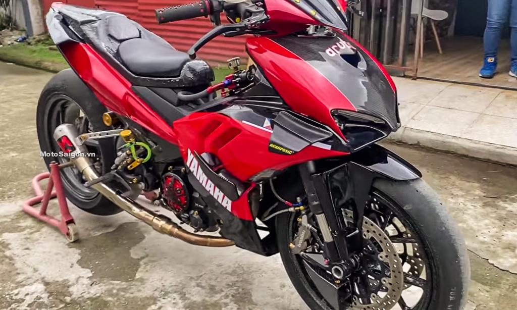 Exciter độ Ducati Panigale V4 S gắp đơn nhiều chi tiết carbon cực độc
