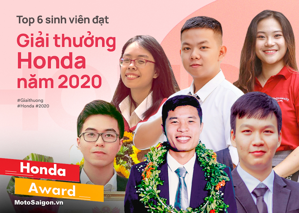 Top 6 sinh viên xuất sắc nhất nhận Giải thưởng Honda 2020