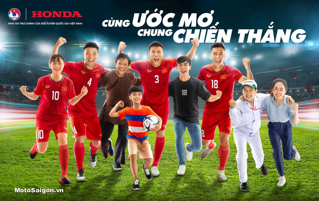 Honda Việt Nam tiếp tục là Nhà Tài trợ chính của các Đội tuyển Bóng đá Quốc gia Việt Nam giai đoạn 2021-2024