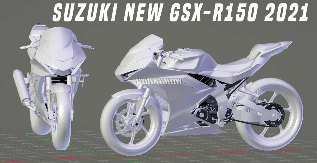 Suzuki GSX-R150 2021 lộ ngoại hình thực tế qua bộ ảnh 3D Concept