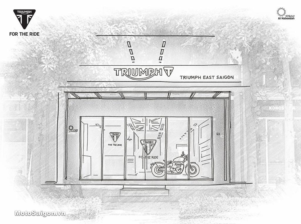 Showroom Triumph East Saigon khu Sala Tp Thủ Đức, TPHCM