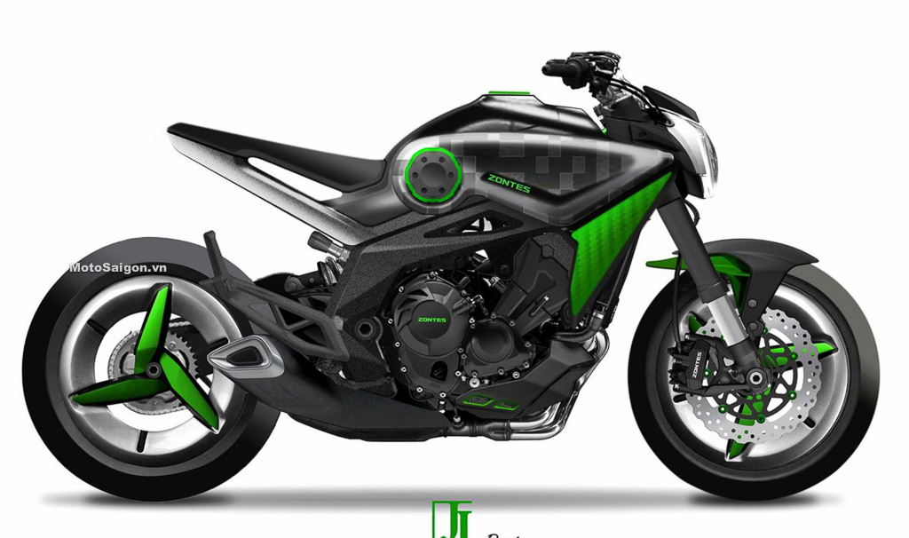 Motosaigon.vn - Thiết kế concept mẫu xe Zontes đầu tiên trang bị động cơ 3 xilanh 1000cc