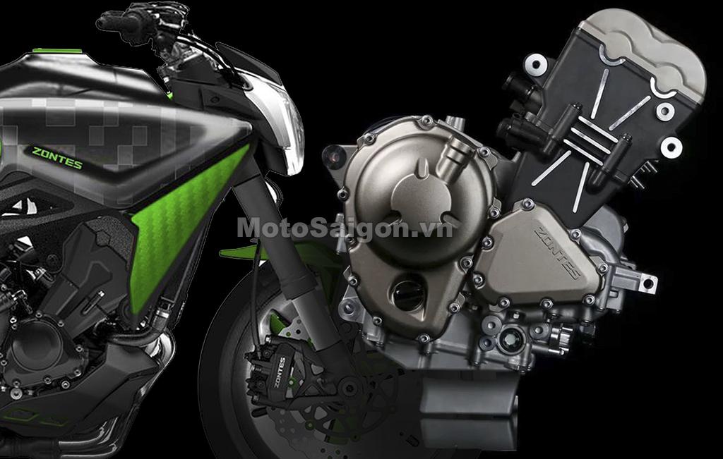 Zontes sẽ ra mắt mẫu xe mới trang bị động cơ 3 xilanh 1000cc
