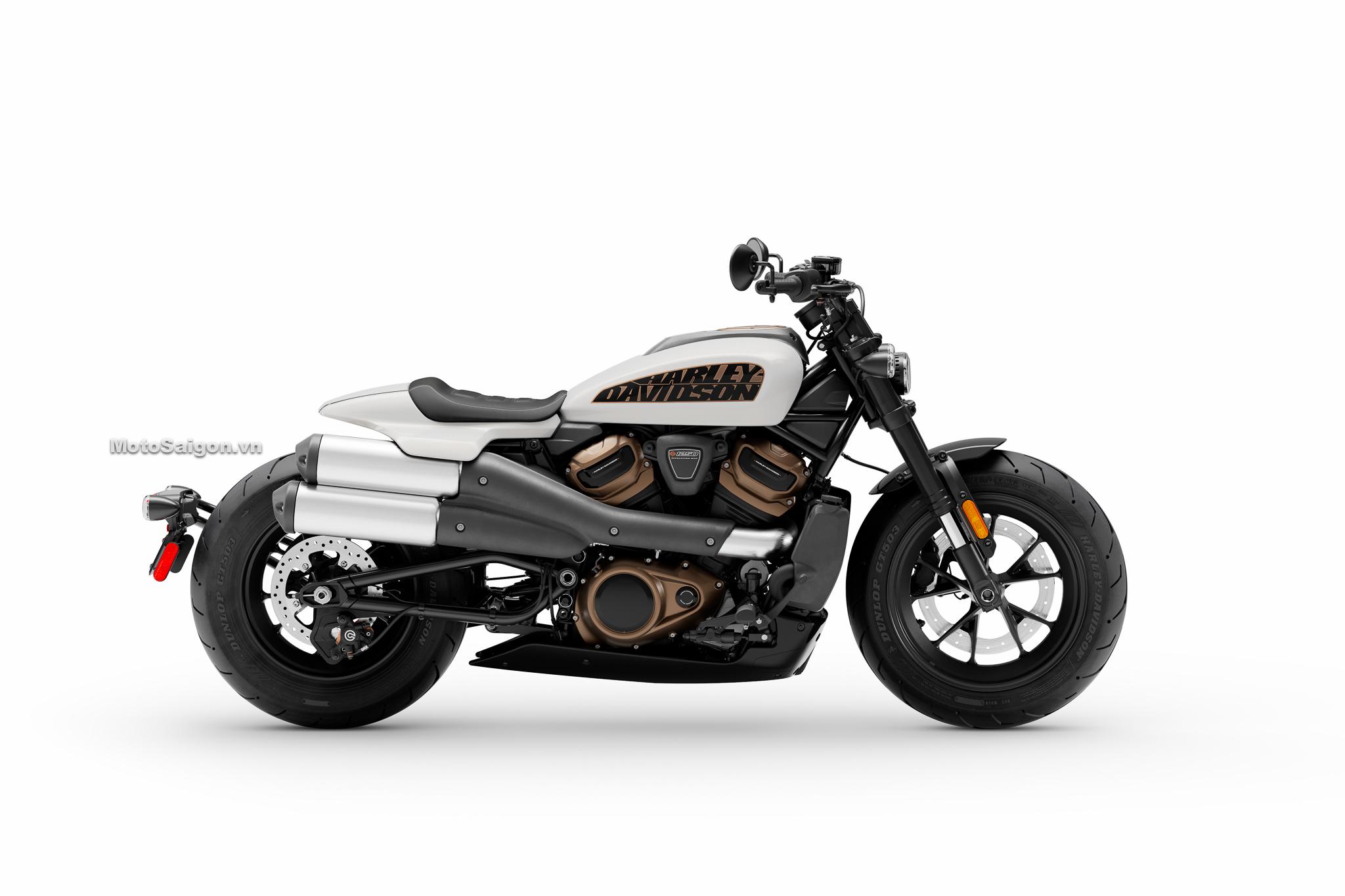 Harley-Davidson Sportster S màu trắng ngọc trai