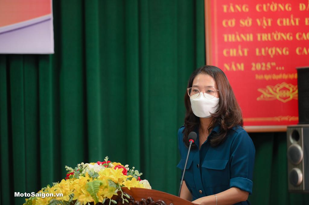 Bà Đào Thị Hải Yến_Giám đốc Khối Kế hoạch và Đối ngoại Công ty Honda Việt Nam phát biểu