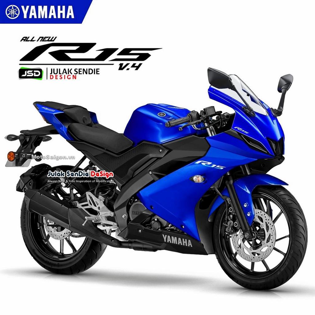 Yamaha R15 v4 lộ ảnh phác thảo khá giống R7